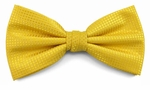 Boy's Bright Yellow Woven Like Band Bow Tie