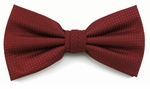 Boy's Burgundy Woven Like Band Bow Tie