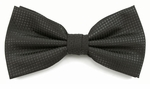 Boy's Charcoal Woven Like Band Bow Tie