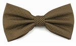 Boy's Cocoa Brown Woven Like Band Bow Tie