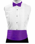 Boy's Cummerbund & Bowtie Set - Purple