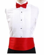 Boy's Cummerbund & Bowtie Set - Red