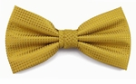 Boy's Gold Woven Like Band Bow Tie