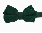 Boy's Hunter Green Velvet Band Bowtie