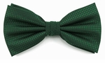 Boy's Hunter Green Woven Like Band Bow Tie