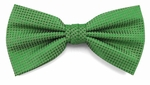 Boy's Kelly Green Woven Like Band Bow Tie
