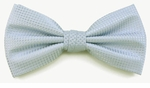 Boy's Light Blue Woven Like Band Bow Tie