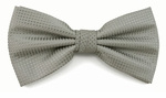Boy's Light Gray Woven Like Band Bow Tie