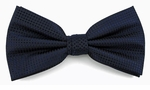 Boy's Navy Woven Like Band Bow Tie