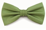 Boy's Olive Woven Like Band Bow Tie