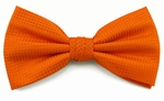 Boy's Orange Woven Like Band Bow Tie