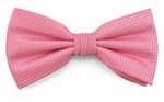 Boy's Pink Woven Like Band Bow Tie