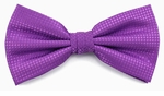 Boy's Purple Woven Like Band Bow Tie