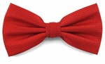 Boy's Red Woven Like Band Bow Tie