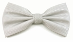 Boy's Silver Woven Like Band Bow Tie