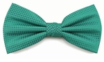 Boy's Teal Woven Like Band Bow Tie