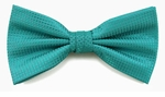 Boy's Turquoise Woven Like Band Bow Tie