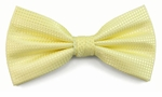 Boy's Yellow Woven Like Band Bow Tie