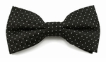 Boys Black Pink Dot Pattern Band Bow Tie