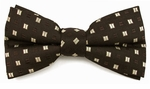Boys Black w/Brown Band Bow Tie