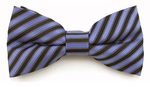 Boys Blue & Black Stripe Band Bow Tie
