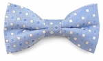 Boys Blue Squares Pattern Band Bow Tie