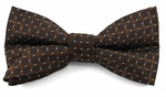 Boys Brown Pin Dot Pattern Band Bow Tie