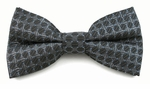 Boys Dark Gray Tone on Tone Pattern Band Bow Tie