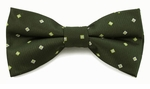 Boys Dark Green & Lime Pattern Band Bow Tie