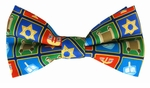 Boys Hanukkah Holiday Squares Banded Bow Ties