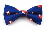 Boys Jolly Ole Santa Pattern Band Bow Tie