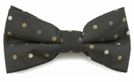 Boys Navy Multi Color Dots Pattern Band Bow Tie