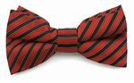 Boys Red & Black Even Stripes Band Bow Tie