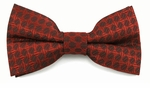 Boys Red Tone on Tone Pattern Band Bow Tie