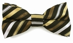 Boys Shades of Brown Stripe Band Bow Tie