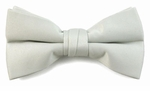Boys Snowy Silver Band Bow Tie