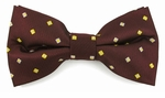 Boys Wine Pattern Band Bow Tie