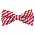 Candy Cane Stripe Bow Tie (Men's & Boys Styles)