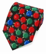 Christmas Balls Ties / Black