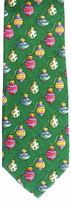 Christmas Balls Vertical Stripe Tie / Green