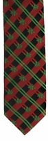 Christmas Holly Stripe Ties / Green