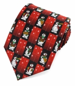 Christmas Musical Snowman Ties  / Red