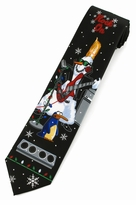 Christmas Rock On Snowman Ties / Black