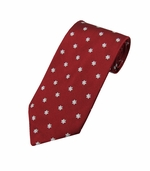 Christmas Snowflake Tie  / Red