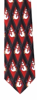 Christmas Snowman Diamond Pattern Ties