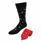 Christmas Snowmen Tie & Sock Set