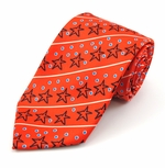 Christmas Star Diagonal Stripe Tie (Various Sizes Available for Men & Boys)