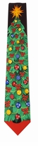 Christmas Tree Decorated Tie
