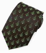 Christmas Tree Pattern Ties / Black