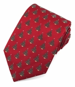 Christmas Tree Pattern Ties / Red